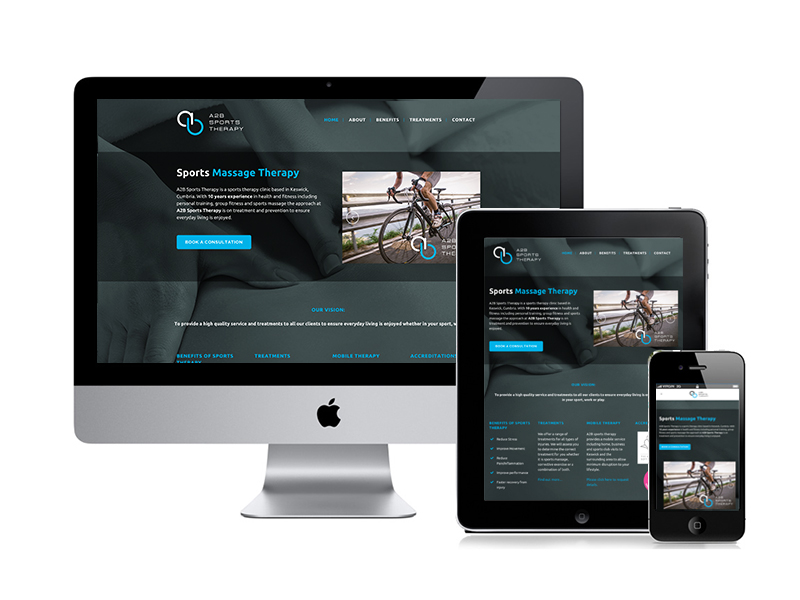 Sports Therapy Website design